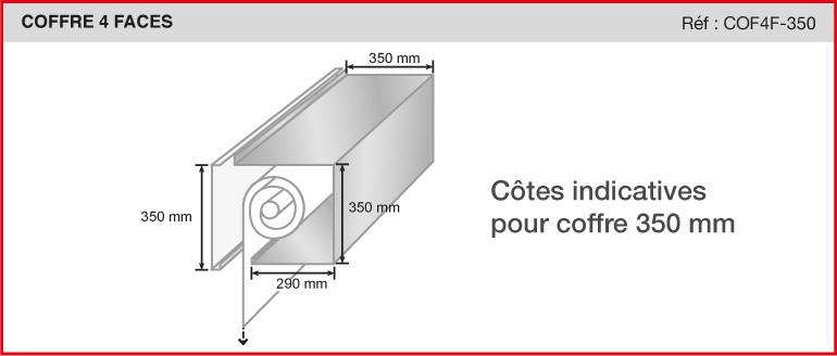 COFFRE 4 FACES - Réf COF4F-350