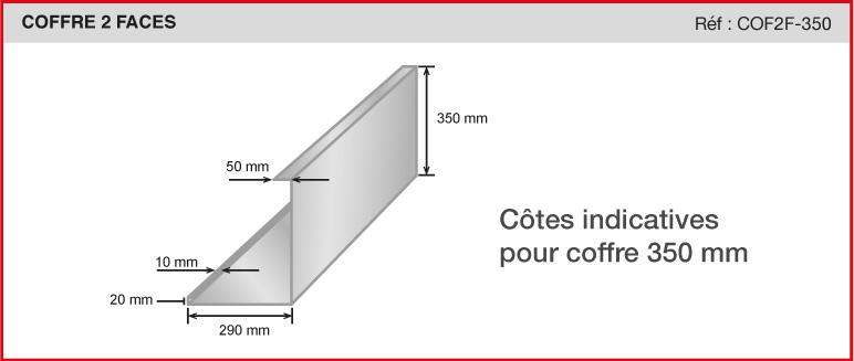 COFFRE 2 FACES - Réf COF2F-350