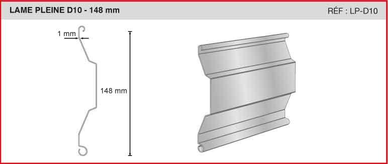 LAME PLEINE D10 - 148mm - Ref LP-D10