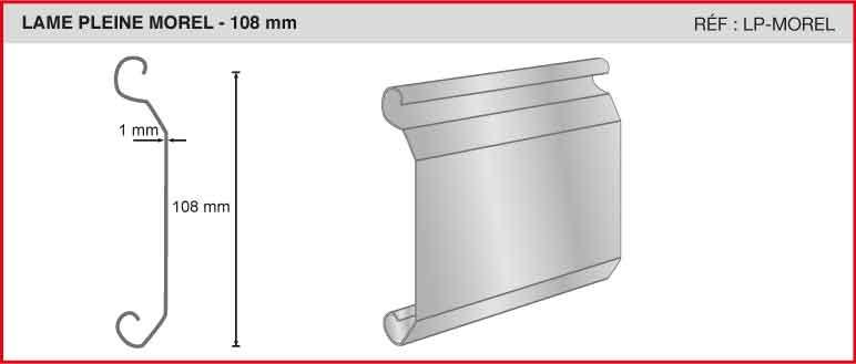 LAME PLEINE MOREL - 108 mm - Réf LP-MOREL