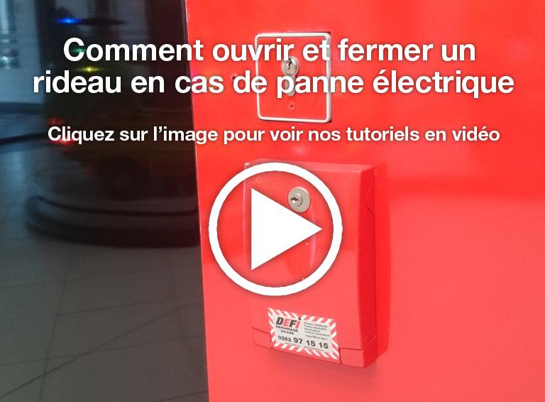 Comment ouvrir et fermer un rideau en cas de panne électrique